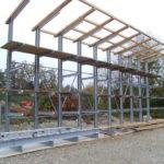 Kragarmregal mit Dachvorbereitung